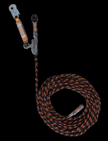 Переносная (временная) вертикальная анкерная линия 50м